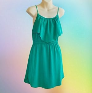 AMERICAN EAGLE OUTFITTERS Green Mini Slip Dress